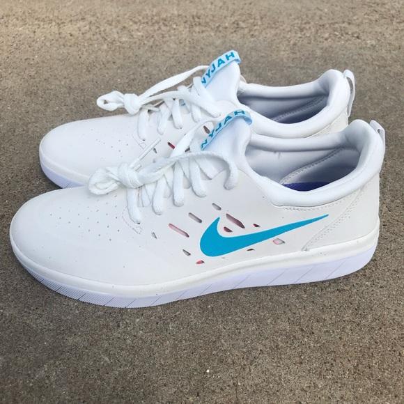 8b9a43a02f63 Nike SB Nyjah Free Light Blue Fury Series Shoes